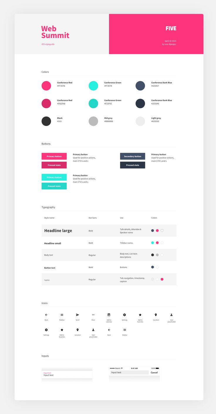 Project style guide template – SiteUp