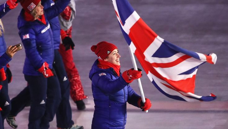 Way to go Lizzie Arnold #wearethegreat #teamgb #olympics2018 #openingceremony