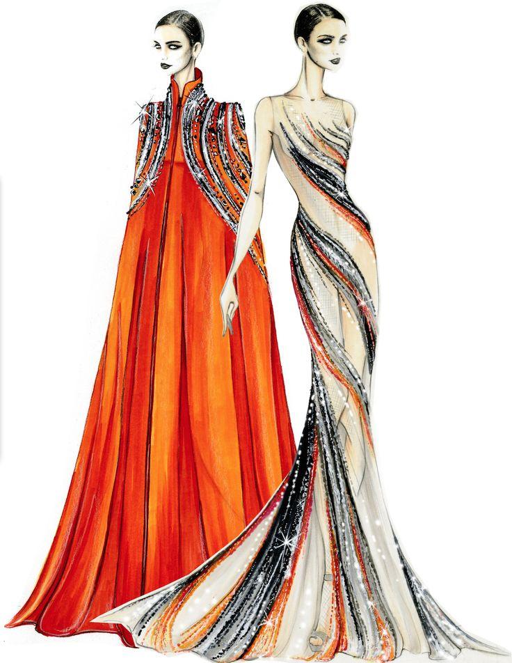 Design & Illustration by Tani Bland & Susie Suh | Otis Fashion - Bob Mackie, Senior Class of 2015