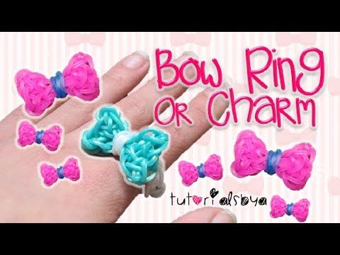 ▶ UPDATED Bow Ring / Charm Rainbow Loom Tutorial | How To - YouTube