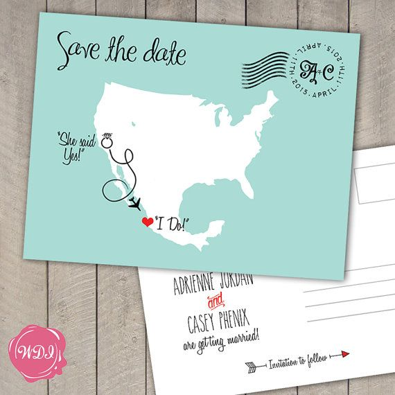 Best 25 destination wedding save the date ideas ideas on destination wedding save the date postcard us by wedoinvites junglespirit Image collections