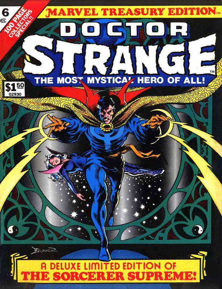 Marvel Treasury Edition no. 6: Doctor Strange, cover art by Frank Brunner