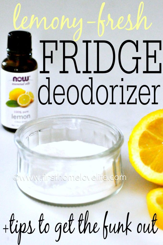 How to keep your fridge smelling fresh, and tips for getting and keeping the funk out for good! #diy #lemon #kitchen #cleaning #clean #tipsandtricks