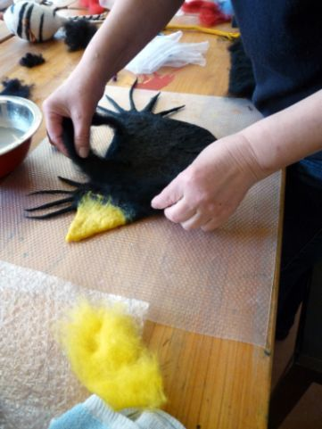 more colorful felting from site