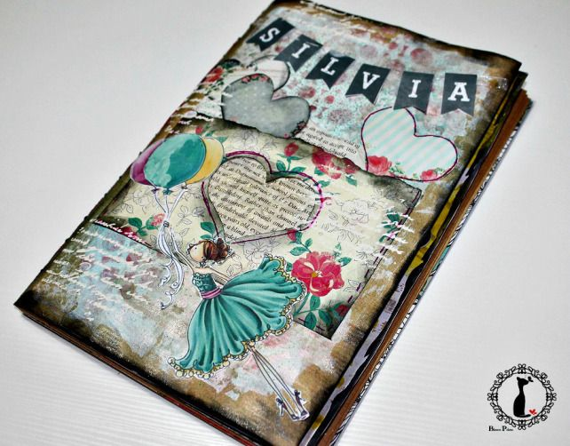 Lbum diario mixedmedia cinderella cinderella pinterest cinderella - Decorar album de fotos por dentro ...