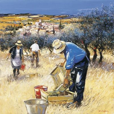La Cueillette des Olives by Andre Deymonaz