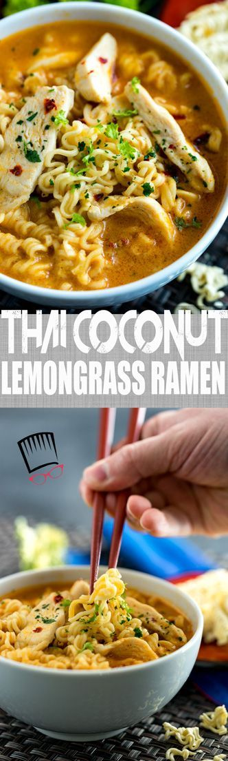 I love little short cuts in the kitchen and this Thai Coconut Lemongrass Ramen makes for a super flavorful meal without taking a ton of time to make thanks to cheap-o ramen noodles and ready made curry and lemon grass pastes. Easy and so, so flavorful!