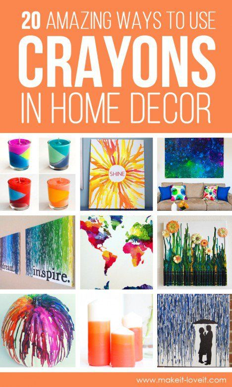 Home Decor Crafts Part - 46: 20 Amazing Ways To Use CRAYONS In HOME DECOR!