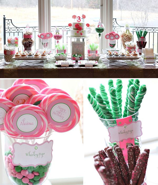 Birthday Party Buffet Table: 256 Best Images About Popcorn & Candy Buffet On Pinterest