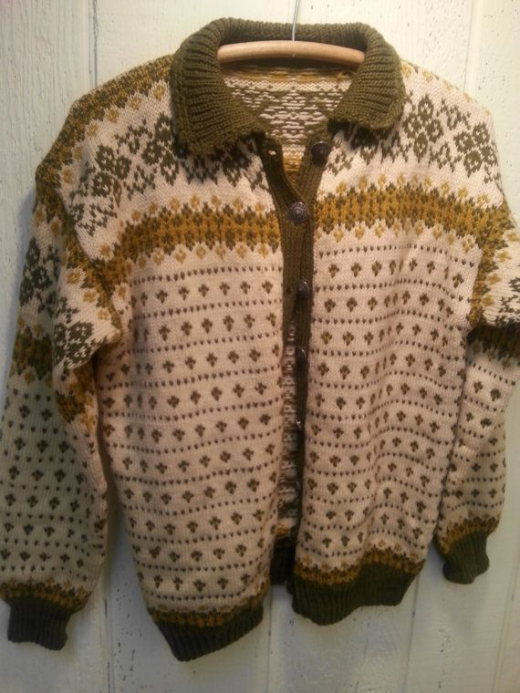 Hand Made Norwegian scandinavian sweater wool soft by vitch