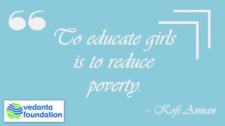 #QuoteOfTheDay #Education #Girls #Poverty #Vedanta #India