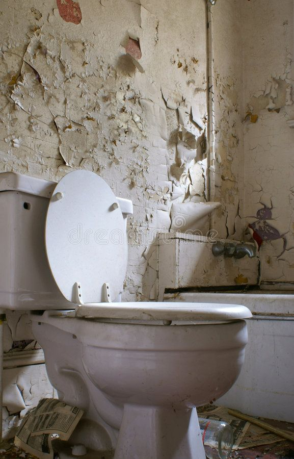 Old Rotten Bathroom With Toilet Peeling Paint And Garbage Aff Toilet Bathroom Rotten Garbage Paint Ad Peeling Paint Bathroom Toilet
