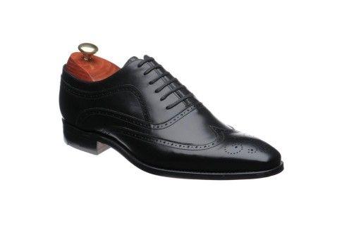 Barker Vivaldi Mens Black Leather oxford brogue shoe http://www.robinsonsshoes.com/barker-vivaldi.html
