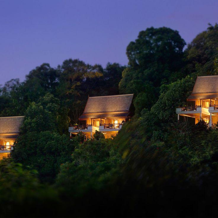 Pangkor Laut Resort Lumut, Malaysia tree outdoor house yellow night light lighting screenshot
