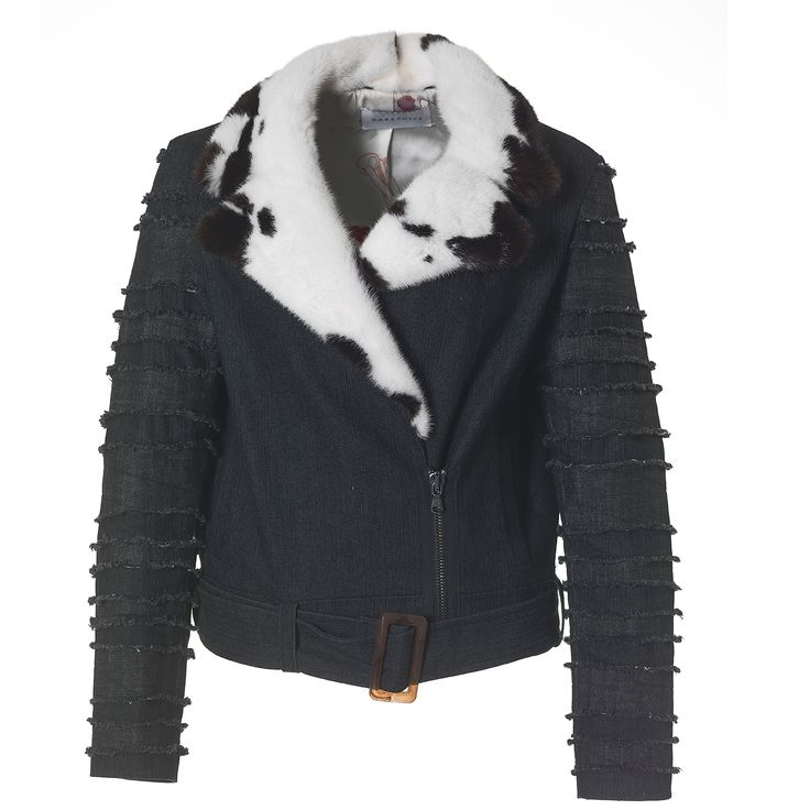 This cool fur fashion biker jacket is a Kopenhagen Fur design collaboration with Saks Potts. Stay tuned for more Saks Potts fur styles in Kopenhagen Fur's showroom!