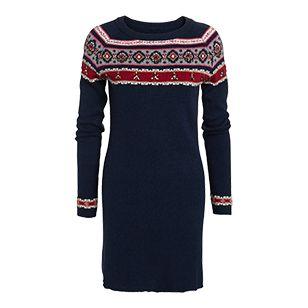 Finstickad klänning - Lindex