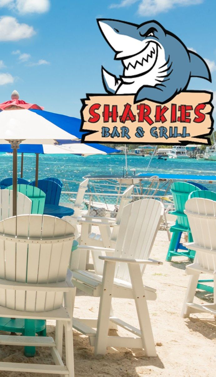 Sharkies Bar & Grill at Big Game Club for a taste of #realbimini