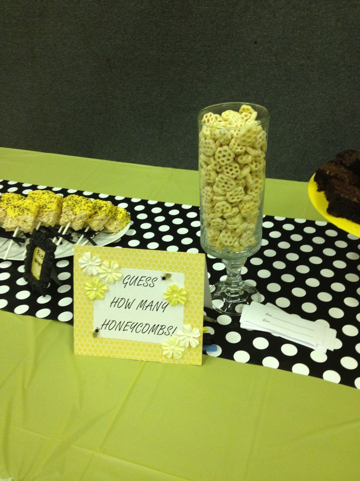 Bumble Bee Baby Shower With Honey Comb Guessing Game