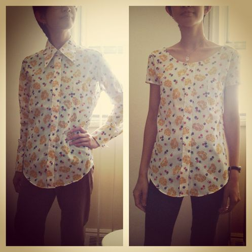 How to refashion a button down shirt #sew