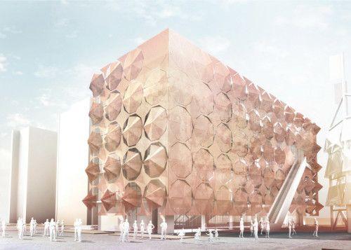 Transforming Umbrella Facade   3Gatti Architecture Studio