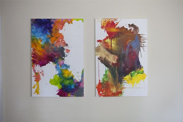 Make your own melted crayon canvas art using colors for Crayon diy canvas