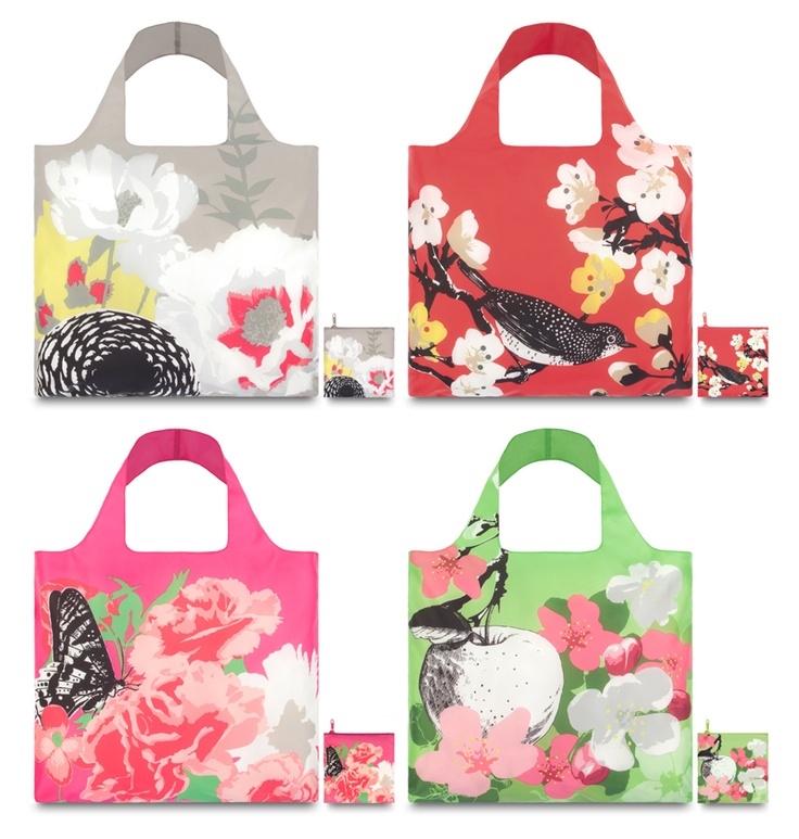 LOQi Prima Collection. These amazing foldable shopping totes are available for only $13.90 at The Planet Traveller