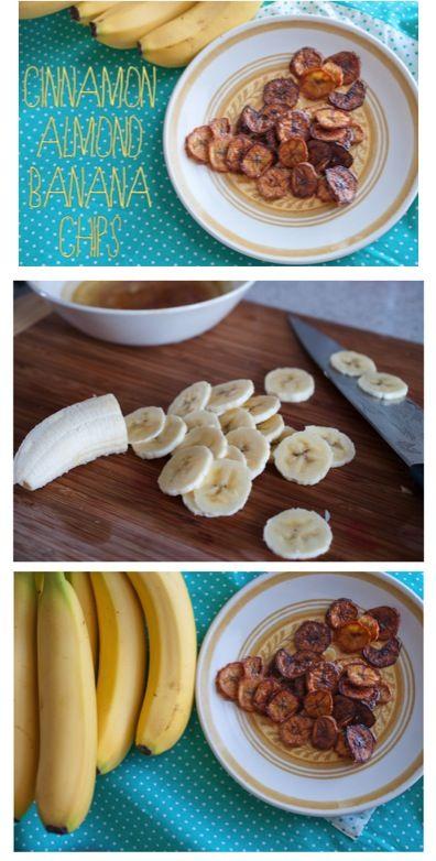 Homemade Cinnamon Banana Chips Recipe! ~ the perfect little healthy snack idea! #recipes