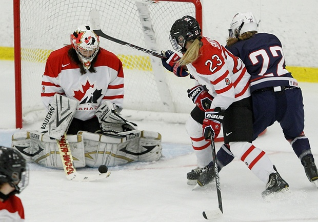 Team Canada goaltender and former Vancouver Thunderbird Kimberly Newell was in net for two wins against the U.S. in a best-of-three series this August.