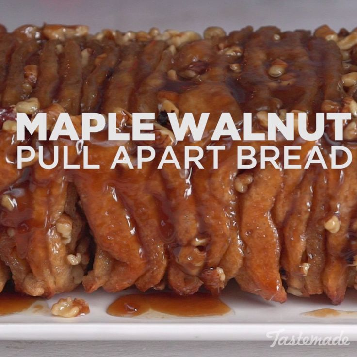 With walnuts and sweet caramel sauce, this doughy treat is ridiculously yummy.