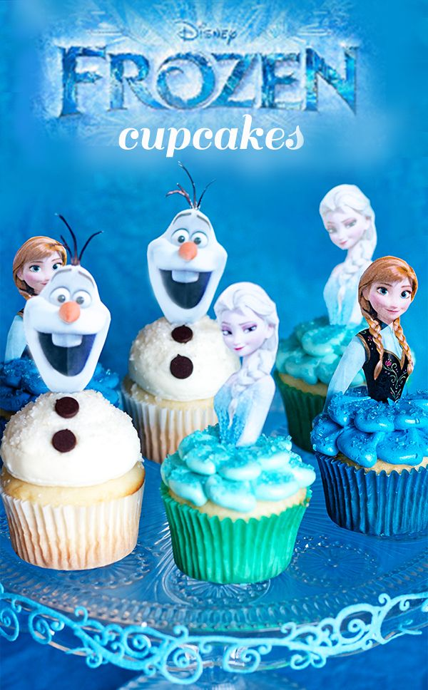 Disney's Frozen Cupcakes How-To ~ with Olaf and Princess picture printables