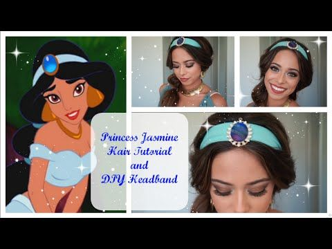 Princess Jasmine Hair Tutorial and DIY Headband - YouTube