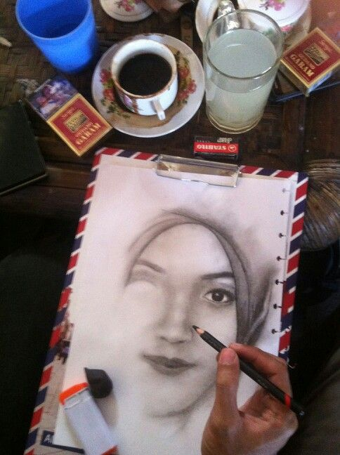 Drawing pencil #Urip kui mampir ngombe, kuli nggambar mawon!!