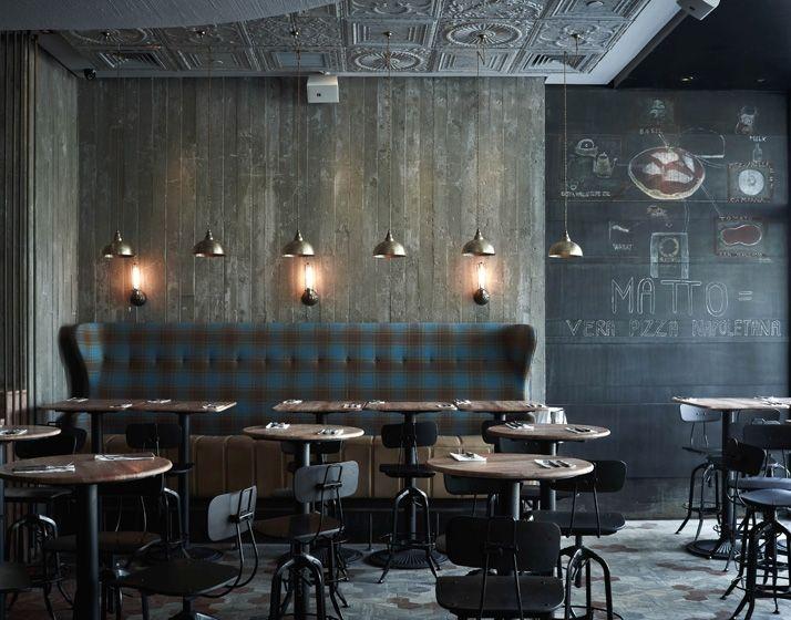 plaid banquette and medallion ceiling detail shanghaibeijingrestaurant ideasrestaurant - Travertine Restaurant Ideas