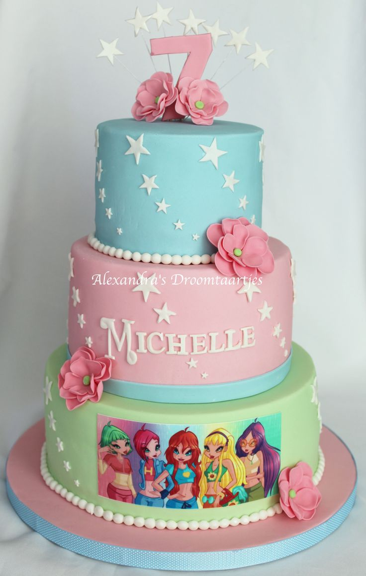 #Winx #cake / #Winx #taart gemaakt voor de #verjaardag van een #meisje die 7 jaar is geworden.