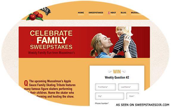 Celebrate Family Sweepstakes