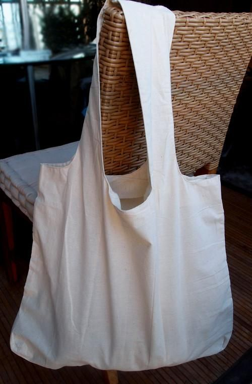 7fb327813903b1 This Eco-friendly grocery shopping tote bags are made of 100% natural  cotton fabric. Comfortable 18 inches self-fabric handles are long enough to  sling over ...