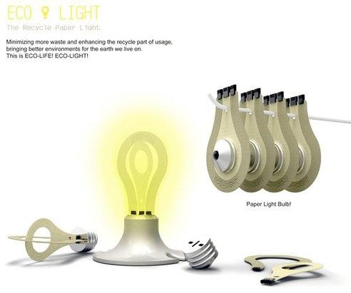 Light bulbs made of paper. Hmm..