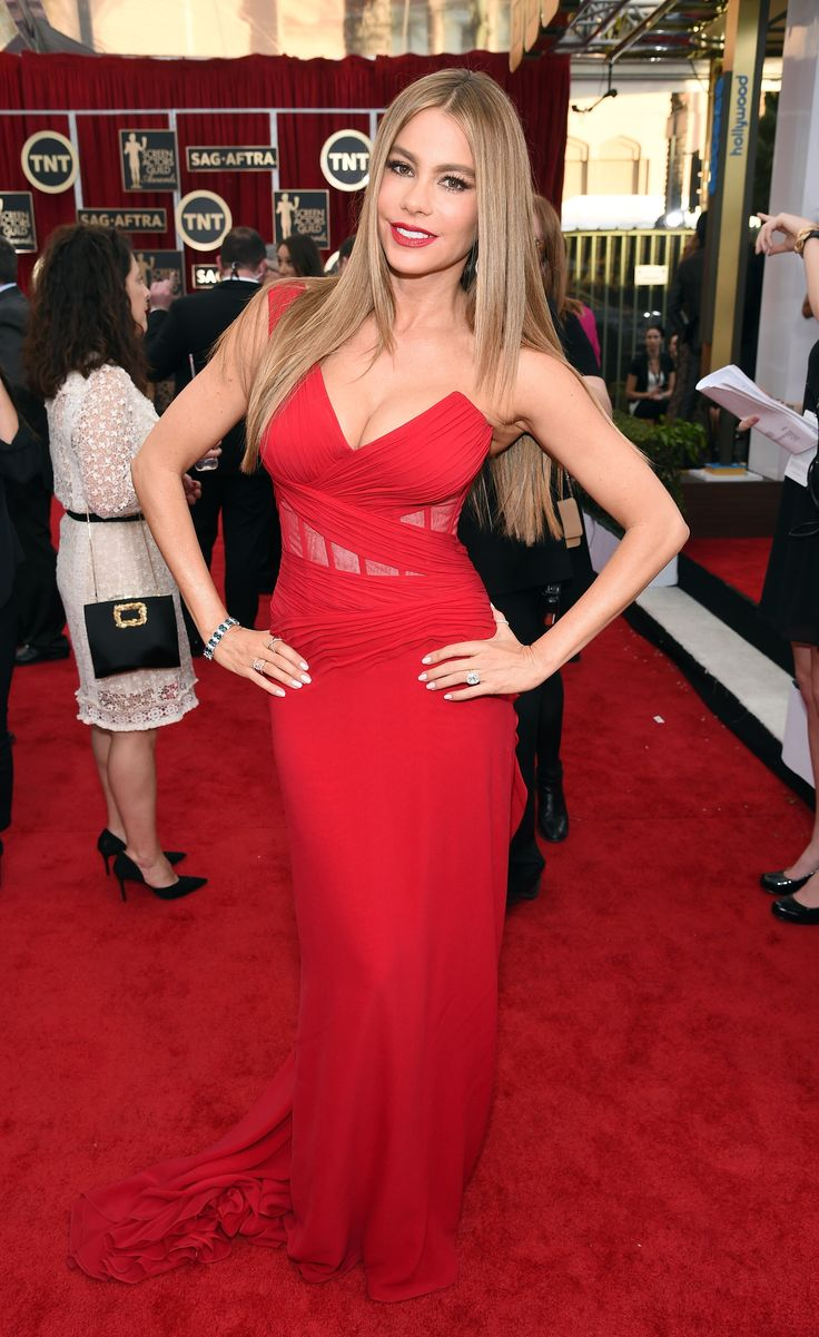 Sofia Vergara In Donna Karan Atelier dress and Brian Atwood shoes. SAG Awards   - ELLE.com