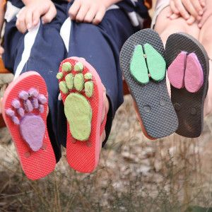 Wild Nature Walk Shoes - would be cool to do at the beach too!
