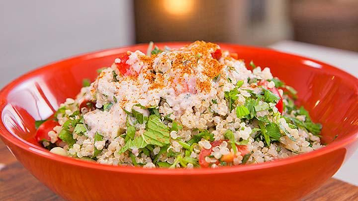 Quinoa Tabbouleh with Acai and Chia