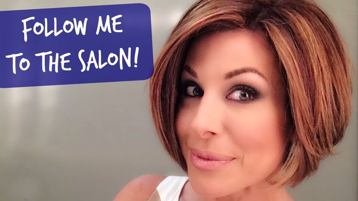 New Haircut and Color at the Salon! - YouTube