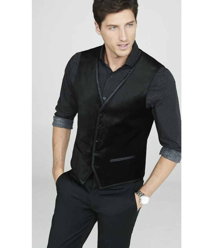 Image result for black suit vest with jeans