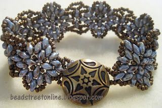 Bead Street Online: Floral Medallion Class with Czechmates SuperDuos