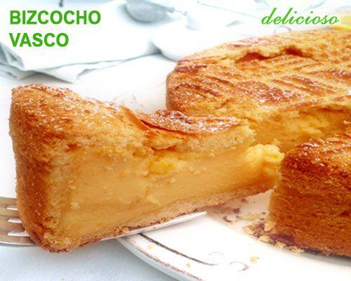 bizcocho vasco de crema pastelera