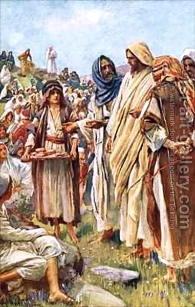 571 best images about biblical art on pinterest for Loaves and fishes bible story