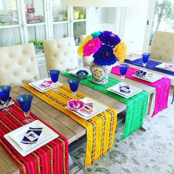 Mexican table runners available at our Etsy store starting at $14.95 www.etsy.com/shop/MesaChic