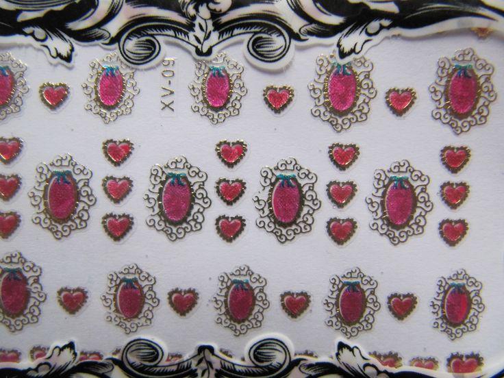 unghie gioiello con gli stickers 3d - tutorial - N.a.a.S.