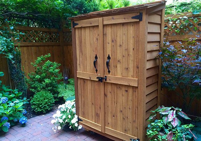 The Garden Chalet shed is large enough to store most common garden tools such as rakes and hoses or perfect for all your pool accessories. Features - Made of Durable Western Red Cedar - Panelized Ceda