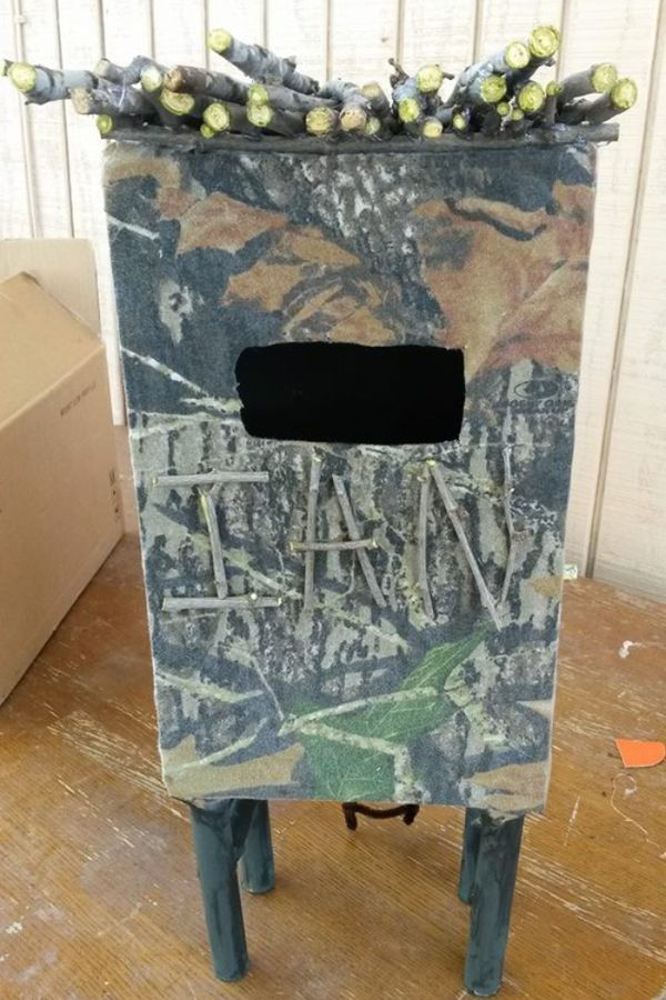 Hunting Blind Valentines Boxes
