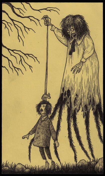 Monster art on POST-IT NOTES by Don Kenn! john320.jpg 421×700 pixels